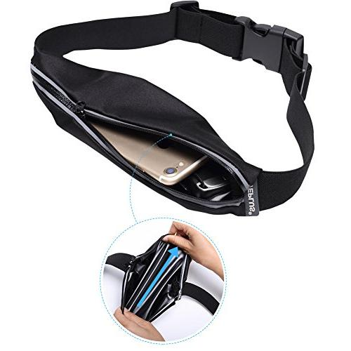 WEPLUS Adjustable Running Belt Gym Reflective Waist Pack Bag