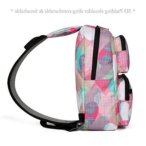 ZCL Girls Backpack, Sling Daypack Bags Women Ladies Solid