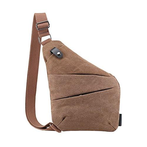 anti theft canvas sling bag