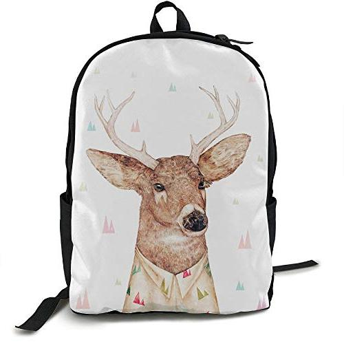 backpack white tailed deer water