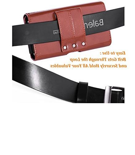 Ranboo Phone Pouch Belt Loop Case Pouch Phone Men Carrying Pouch Phone Bag Waist Smartphone 8/7/6s/6 Sports Brown
