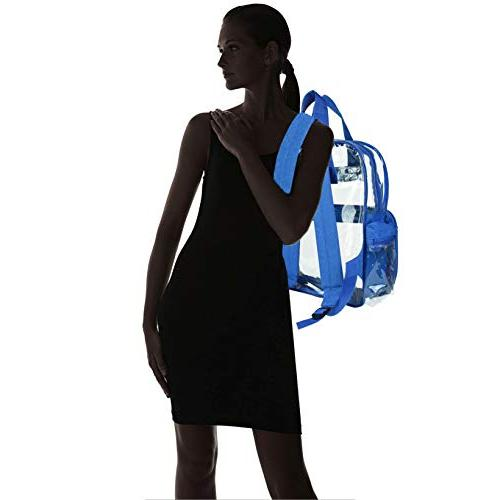 DALIX Clear Backpack School Transparent Boys Royal Blue Pack