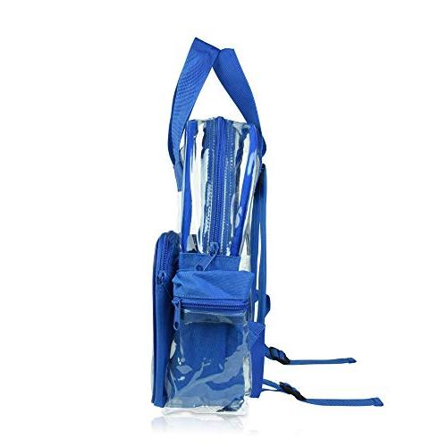 DALIX Clear School Bags Boys Royal Pack
