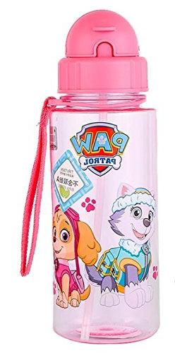 paw. patrol girls Cartoon Portable water bottle With straw 1
