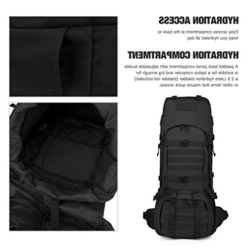 Mardingtop Internal Backpack Molle Rucksack for Camping 65L