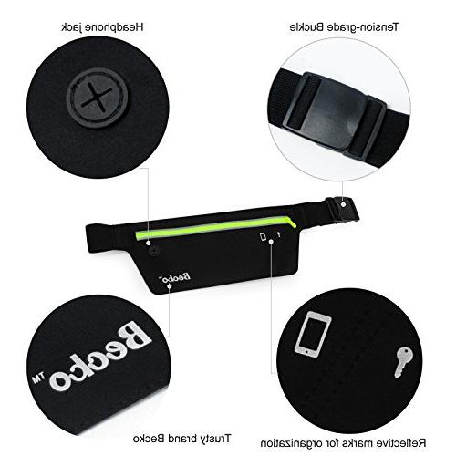 Becko Lightweight & Waterproof Bag Belts / Fitness Belt Both - Fit for iPhone, HTC, Motorola, and Most Waist / Sport Running Waist Bag / Pack Protects items during Workouts, Cycling, Running, Leisure and All