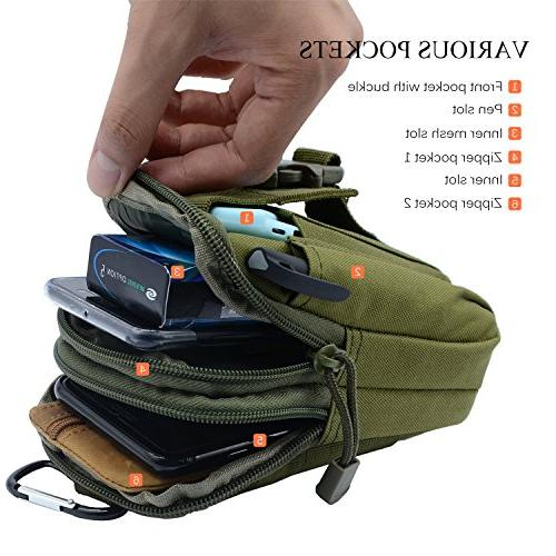 PBNICE Military Pack Utility Gadget Holder Plus Samsung S7 Hiking Cycling Climbing