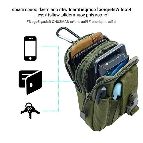 PBNICE Pack Molle Pouch Utility Gadget Bag With Holder iPhone 6S/7 Plus Samsung Galaxy S7 Hiking Outdoor