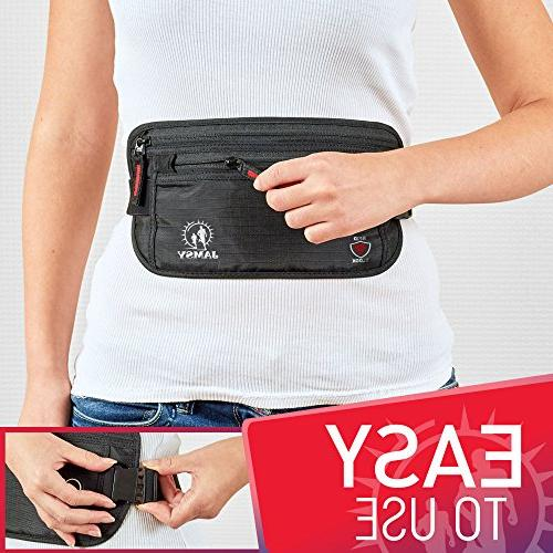 Travel Wallet Belt - RFID Money Document