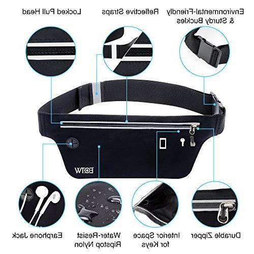 EOTW Belt Wallet Belt Waist Bag Phone Holder For Cashes ID -Ultra Slim Adjustable, Traveling Gym