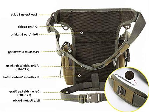 Jueachy Multifunctional Drop for Hiking Fishing Tool Pouch with Detachable