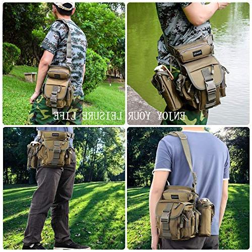 Jueachy Waist Military Thigh Pack for Motorcycling Traveling Fishing Tool with Detachable Water Pouch