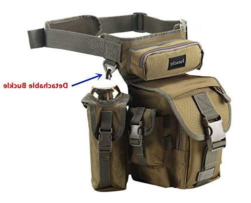 Jueachy Waist Tactical Thigh Hip Outdoor for Fishing Pouch Detachable