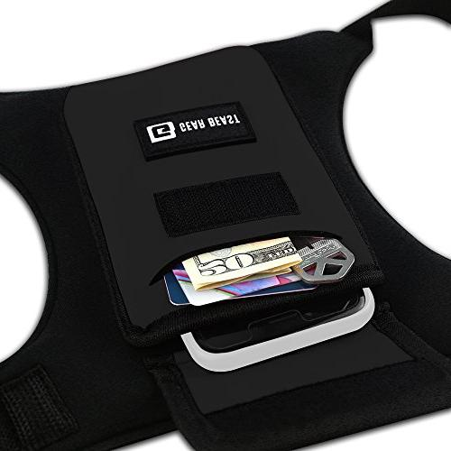 Gear Running Vest Accessories Holder Key Card for Fits iPhone X 7 Galaxy S9 S9 S8 Note 8