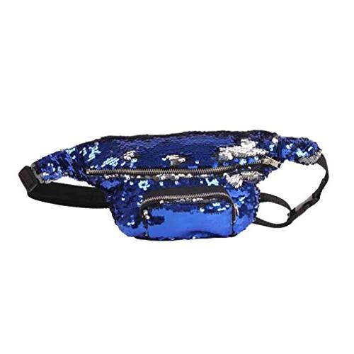 sequins waist casual bag
