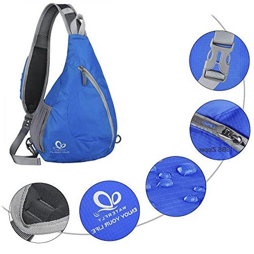 WATERFLY Chest Bags Triangle Packs for Walking Dog Boys Girls Men