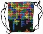 tetris game backpack gym drawstring