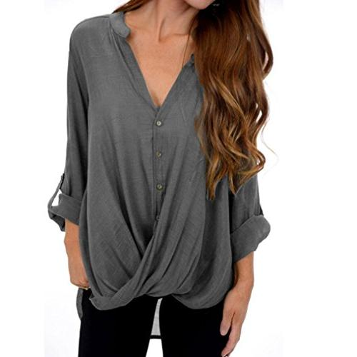 todaies long sleeve solid button
