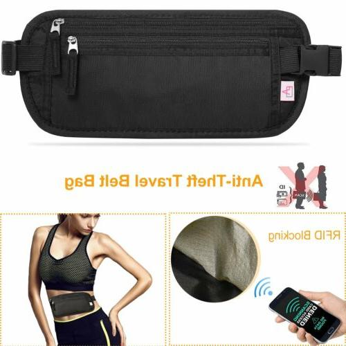 Travel Belt Hidden Waist Passport RFID