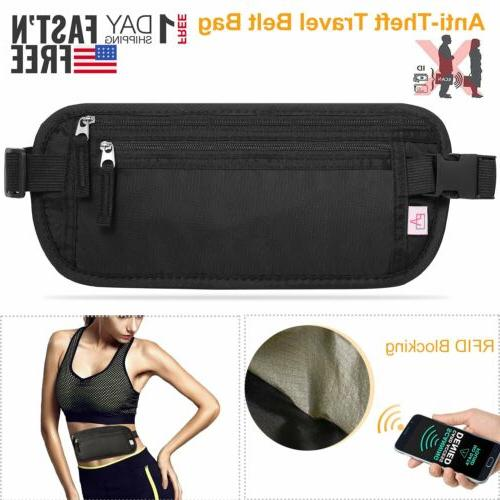 travel money belt hidden waist security wallet