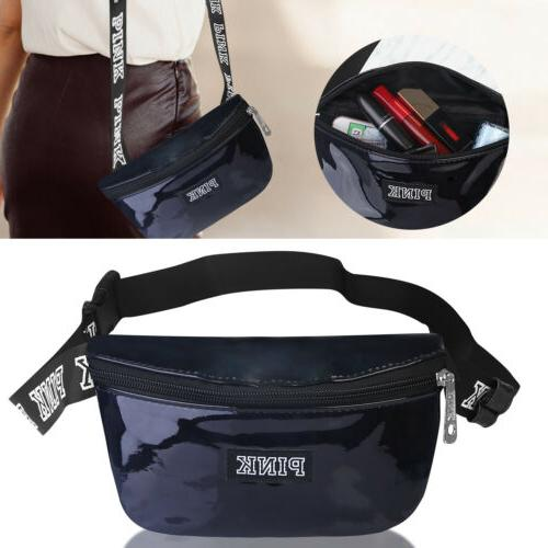 womens fanny pack shiny leather pouch belt