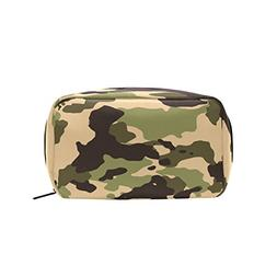 Military Camo Camouflage Pattern Print Makeup Bag Multi Comp