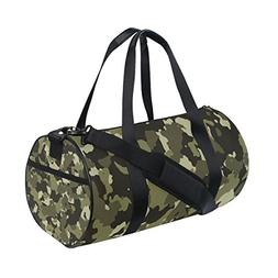 Military Camo Camouflage Pattern Print Travel Duffel Shoulde