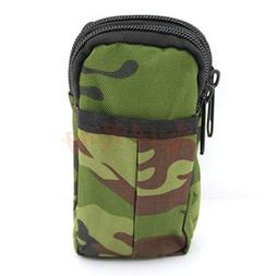 Military Travel Waist Pack 2 Layers Mobile Phone Case Army M