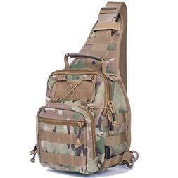 Reebow Gear MilitaryTactical Sling Bag Pack EDC Molle Travel