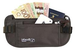 Boxiki Travel Money Belt RFID Safe Soft Comfortable Waist Ba