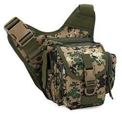 ZHGstore Multi-functional Tactical Camera Messenger Bag Fish