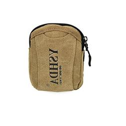 Men's Multi-use Canvas Mini Waist Pack Cellphone Cards Walle