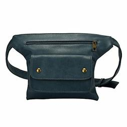 NEW Badiya Couples Multifunction PU Leather Waist Packs with