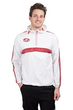 Icer Brands NFL San Francisco 49ers Men's Hoodie Windbreaker