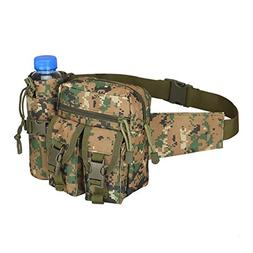 Yvonne Outdoors Tactical Waist Bag,Waterproof Bum Bag Milita