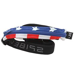 SPIbelt Adult Race Belt Stars and Stripes/Blue Zipper/Logo B