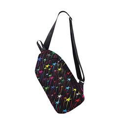 Rainbow Galaxy Multipurpose Crossbody Shoulder Bag,Travel Hi