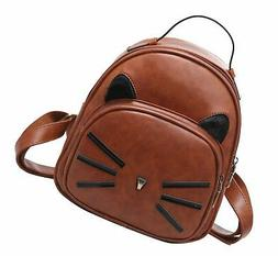 Basilion Retro Cat Cute Daily Field Trip Backpack Casual Min