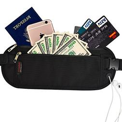 Mebarra RFID Blocking Money Belt Hidden for Travel, Waist Pa