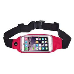Quaanti Unisex Running Bag Sports Running Gym Waist Belt Bag