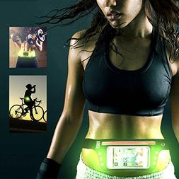 LED Running Belt, Slim Adjustable Runner Race Belt Waterproo