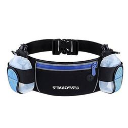 URPOWER Running Belt Multifunctional Zipper Pockets Water Re