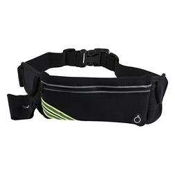 SODIAL Running Belt Waist Pack Pouch Reflective Water Resist