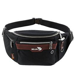 Running Waist Pack For Men & Women Buckles Waterproof Canvas