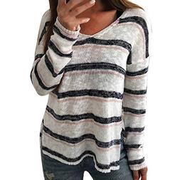 Promotion! Seaintheson Women Sexy Stripe Tops Clearance, Lad