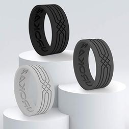 Silicone Wedding Ring for Women and Men - Men's Rubber Weddi