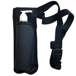 TOA Single Bottle Holster Adjustable Strap w/6oz Bottle for
