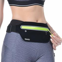 Slim Running Belt,Ultra Light Bounce Free Waist Pouch Fitnes