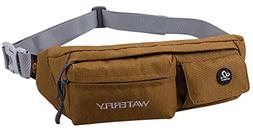 WATERFLY Fanny Pack Slim Soft Polyester Water Resistant Wais
