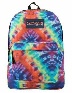 JanSport Superbreak Backpack Red/Multi Hippie Days